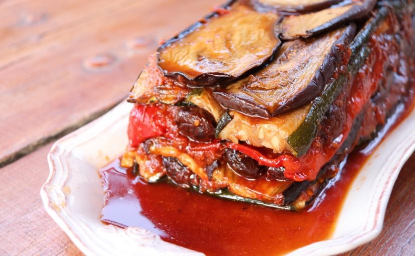 Terrine de légumes grillés au chutney detomate
