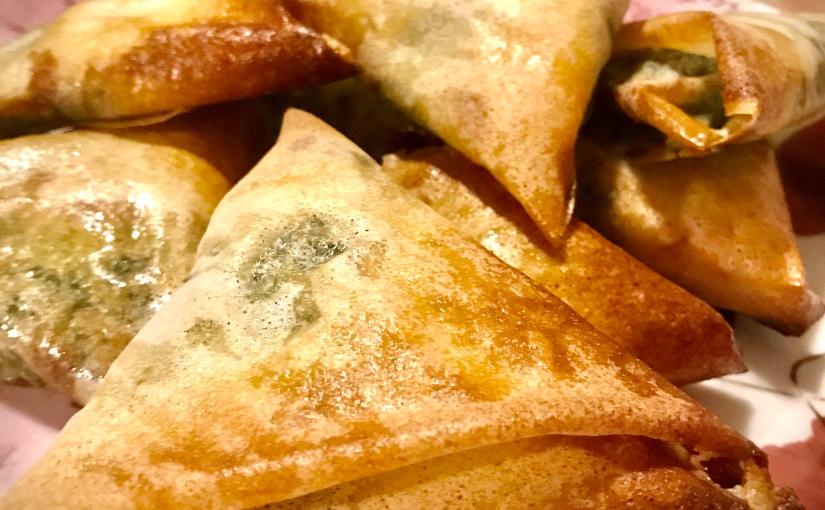 Samossas aux épinards