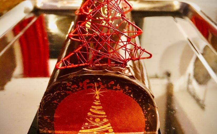 Bûche de Noël chocolat /spéculos