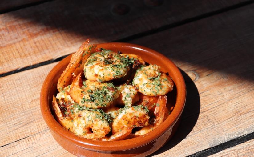 Tapas crevettes à laplancha