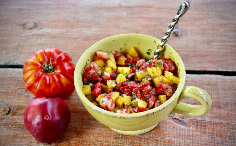 Salsa de tomates à lapêche