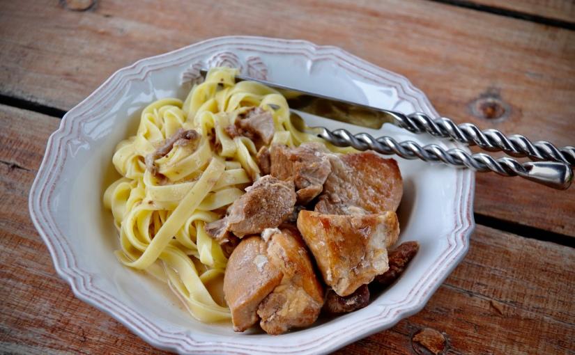 Sauté de porc au cidre et à lasauge