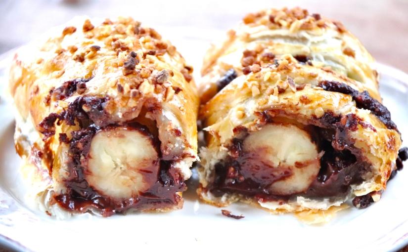 Feuilletée banane chocolat
